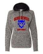 CURVED GREY LADIES COSMIC SWEATSHIRT W/THUMBHOLES