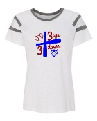 3 UP 3 DOWN BAT WHITE AUGUSTA FANATIC SHORT SLEEVE