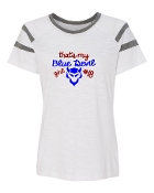 BLUE DEVIL GIRL WHITE AUGUSTA FANATIC SHORT SLEEVE