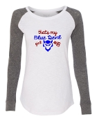 BLUE DEVIL GIRL WHITE PREPPY PATCH