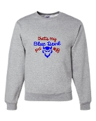 BLUE DEVIL GIRL GREY CREW SWEATSHIRT