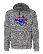 BLUE DEVIL GIRL GREY UNISEX COSMIC SWEATSHIRT