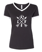 """LOVE"" BLACK SOCCER SHIRT"