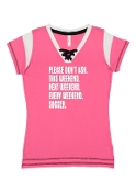 PLEASE DON'T ASK PINK LACE UP JERSEY