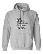 EAT SLEEP GREY HOODIE SWEATSHIRT