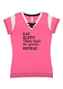 EAT SLEEP PINK LACE UP JERSEY