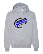 SPORTS GREY HOODIE SWEATSHIRT