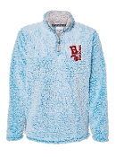 EMBROIDERED BLUE SHERPA