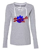 PAW GREY LADIES LACE UP LONG SLEEVE