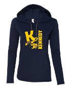 BIG K NAVY LONG SLEEVE TEE W/HOOD
