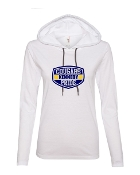 SHIELD WHITE LONG SLEEVE TEE W/HOOD