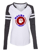 CIRCLE WHITE/GREY LADIES MASH UP LONG SLEEVE